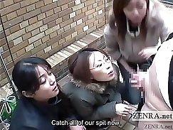 Bodacious Japanese whore Makita Kitagawa gives a handjob