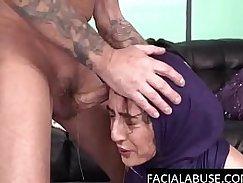 Naughty Arabian slut fucked like crazy in dirty gym sharktight swimsuit