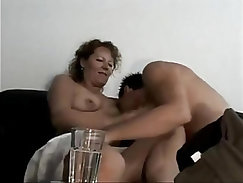 Blonde german and a young friend get luckyon naughty in bed