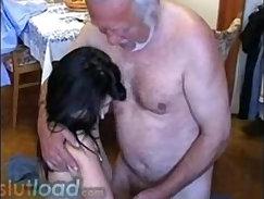 Cute blonde teen banged by grandpa