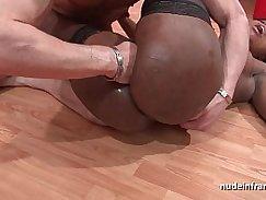 Short Black Chick Shows Her Anal Slut Gets Facial