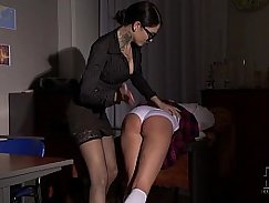 Lucky schoolgirl with perfect figure gets ass filled by her teacher
