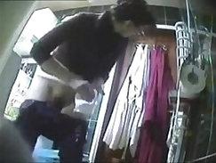 Blonde Mommy Caught On Hidden Camera Dildo Tube