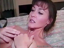 Classic interview - slim amateur mom gets her cunt fucked