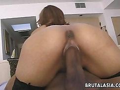 Adorable maid enjoys some serious anal penetration