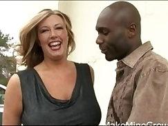 Busty hottie gets some nice interracial hard fucking
