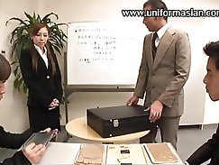 Asian office bills kept pussies big