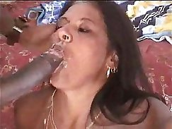 All black double BJ and cum in mouth of UK MILF