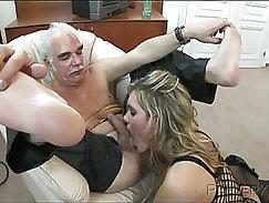 Bad girl Seth Gamble desired to take on four strong men