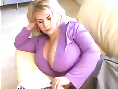 Amazing MILF with big tits on cam