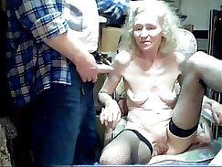 Cheap granny dumping monster prick in her mouth