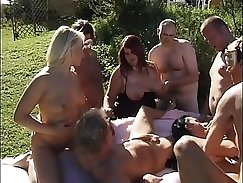 Anal gangbang leather clad babes