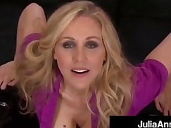 Smoking hot mommy julia ann gives a pov blowjob and footjob