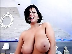 convincing muslim babe with natural tits on cam