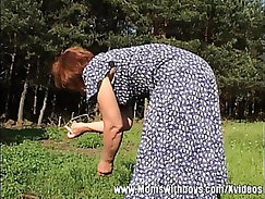 Outdoor Granny With Sexy Ass