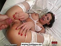 MILF Nurse Viktoria knows the way to relieve all those hard dicks