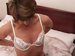 Amateur blonde MILF cheating on her husband