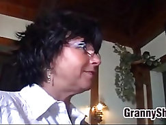 Granny Has Sex With And One Of Her Customers