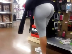 Latina Big Butt Gray Wedgie Check Out!