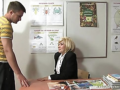 Russian mature teacher Kayla break
