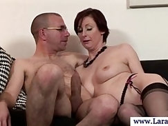Mature sucking on dick in high def