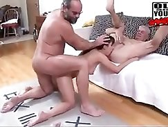 guys getting naughty while going to a orgy