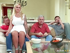 Step-family porn movies in which mothers get to enjoy passionate sex