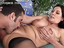 Audrey Romain gets her pussy stretched out