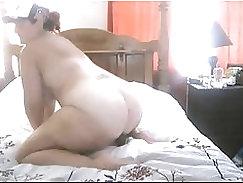 Chubby milf takes a nice deep fucking and sucking