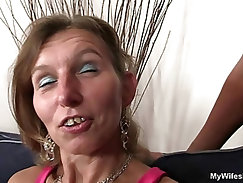 Granny fucks her daughters BF and GF watches