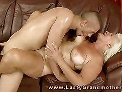 Blonde Granny Sucks My Master Good