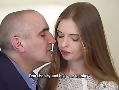 Classy babe gives her guy a great blowjob