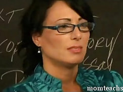 Beautiful stunner fucks her teachers asshole in front of the camera