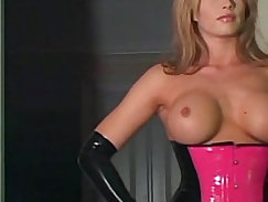 Blonde femdom tugging and dong
