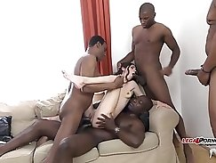 Big Black cock whit Hot studs Did an amazing job riding gang bangers